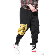 Casual Sport Cargo Pants men printed Letter pencil Pants Men Pocket Streetwear Hip Hop Long Trousers Fashion Summer pants