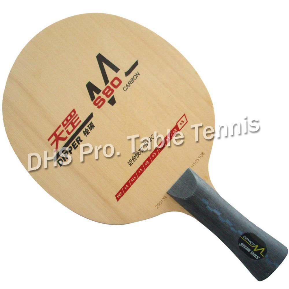 DHS DIPPER DM.S80 DMS80 DM D80 3+2C Table Tennis Blade for Ping Pong Racket Paddle Bat New Product avalox tb525 tb 525 tb 525 shakehand table tennis ping pong blade