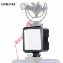 Ulanzi мини светодиодный видео свет на камеру, DSLR фото заполняющая освещение вспышка лампа с 3 холодным башмаком крепление для микрофонов/световая панель