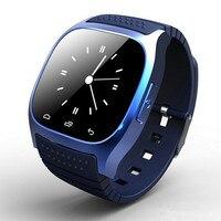 A prueba de agua android smart watch m26 hombres mujer bluetooth podómetro anti-perdida smartwatch llamada sync para android smartphone
