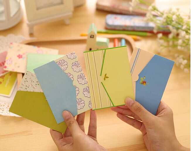 6PCS/BAG Mini Novelty Envelope Fresh Countryside Style Message Card Letter For Card Scrapbooking Gift Korean Statonery Papelaria