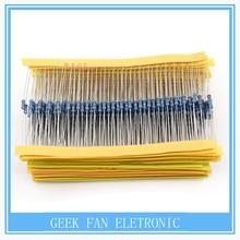 600pcs/pack 1/4W 30 Kind Metal Film Resistors Assorted kit 1% Each 20 600pcs/pack ,for arduino for raspberry pi, board kit B104