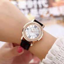 2019 Fashion Roman Watches Leather Strap Women Rhinestone Wrist Casual Dress Crystal Hot Relogio Feminino