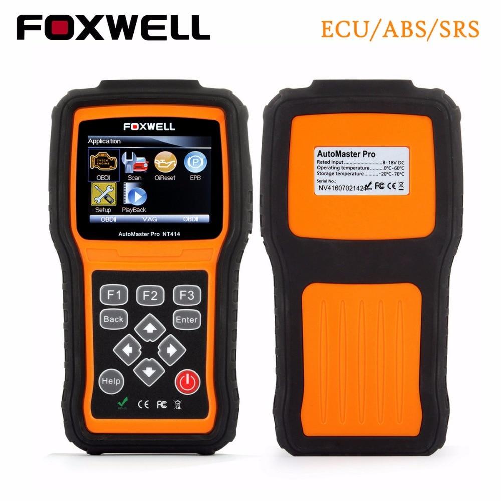 FOXWELL NT414 OBD2 Diagnostica Scanner Motore ABS SRS EPB Reset Olio Trasmissione Diagnostico-tool per il Multi-marca Del Veicolo