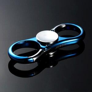 Image 2 - Fancy & Fantasy nowy wysokiej jakości ręcznie zabawki spinner brelok mężczyźni Fingertip Gyro Finger ze stali nierdzewnej na zabawka antystresowa brelok