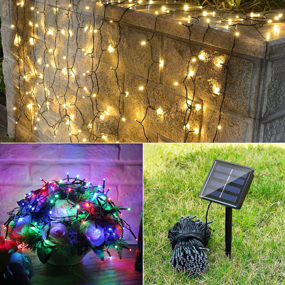 Solar powered outdoor fairy lights collapsible shower stool