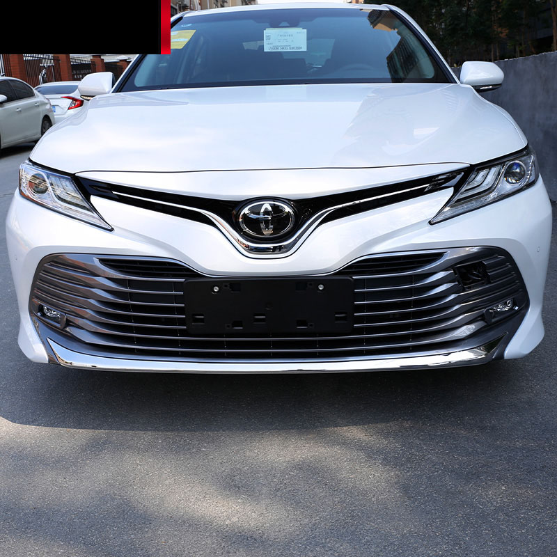 lsrtw2017 stainless steel car front bumper trim for toyota camry 2018 2019 xv70 26pcs stainless steel outer front bumper