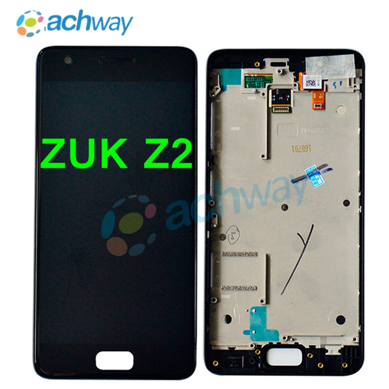 Tested For 5.0 Lenovo ZUK Z2 LCD Display Touch Screen Digitizer Assembly With Frame For Lenovo ZUK Z2 LCD Replacement Parts