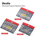 TAIWAN Besdia Diamond Tapered Machine Files Hand Tool or assort with Turbo Air Lappers MTP120 MTF100