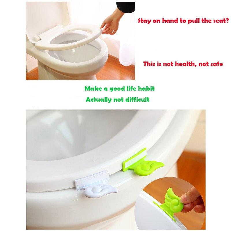 Toilet Seat Lift Handle Cover Lifter Portable Sanitary Diy Toilet ...
