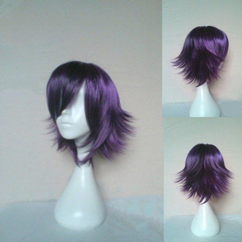 HAIRJOY Μπλε Μωβ Κοντομάνικα Πετσέτα - Συνθετικά μαλλιά - Φωτογραφία 2
