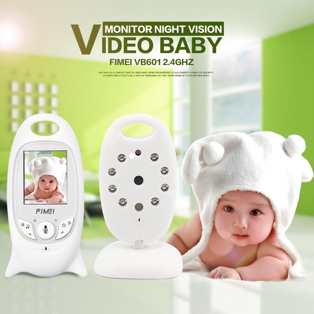 bilder für Nachtsicht Infant Wireless Baby Monitor Digital Video Monitor Kamera Audio Musik Temperaturanzeige Radio Kindermädchen Monitor