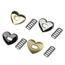 1Pc Love Shape Metal Clasp Turn Lock Twist Lock DIY Handbag Bag Purse Part Accessories