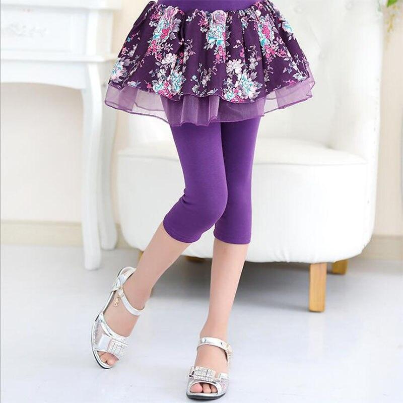 Spiring Legginsy Girls 2018 Fashion Elestic Talia Candy Kolor Skinny - Ubrania dziecięce - Zdjęcie 6