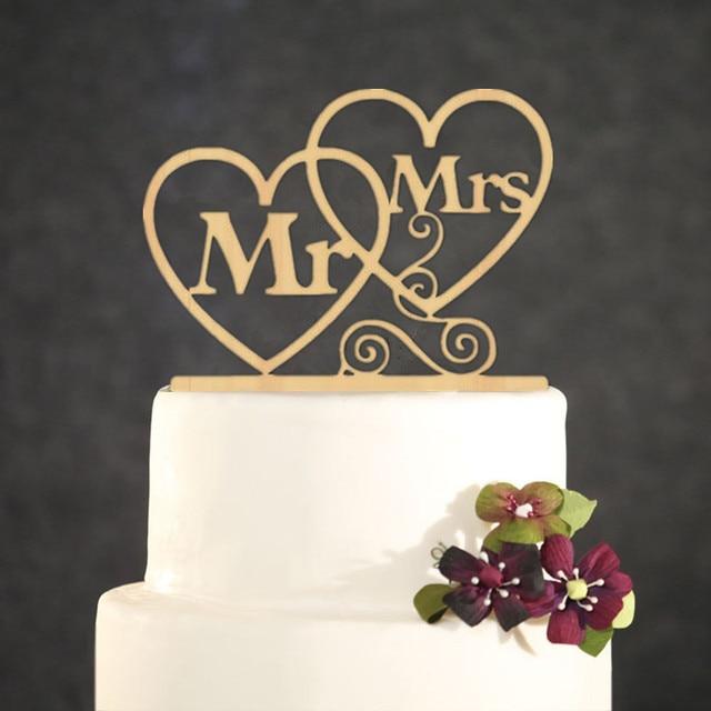 Hochzeitstorte Topper Personalisierte Gold Mr Mrs Acryl Kuchen