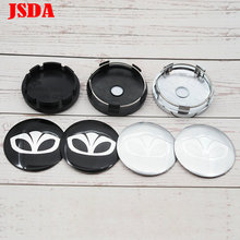 4pcs 56mm 60mm Daewoo logo Car Wheel Center Cap auto rim refit Badge covers dust proof emblem sticker styling