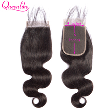 Queenlike Body Wave 4x6 Lace Closure Pre Plucked With Baby Hair Natural Hairline Remy Brazilian Human Hair 4*6 Kim K Closure