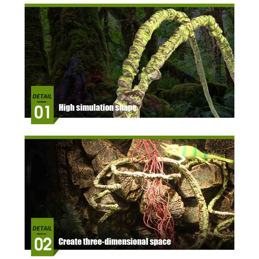 Rama de Escalada de Reptil de 28 Pies Selva Flexible Planta de Decoraci/ón de H/ábitat para Mascotas para Serpientes Lagartos Camaleones Petyoung Enredadera de Reptil con Hoja Realista 3