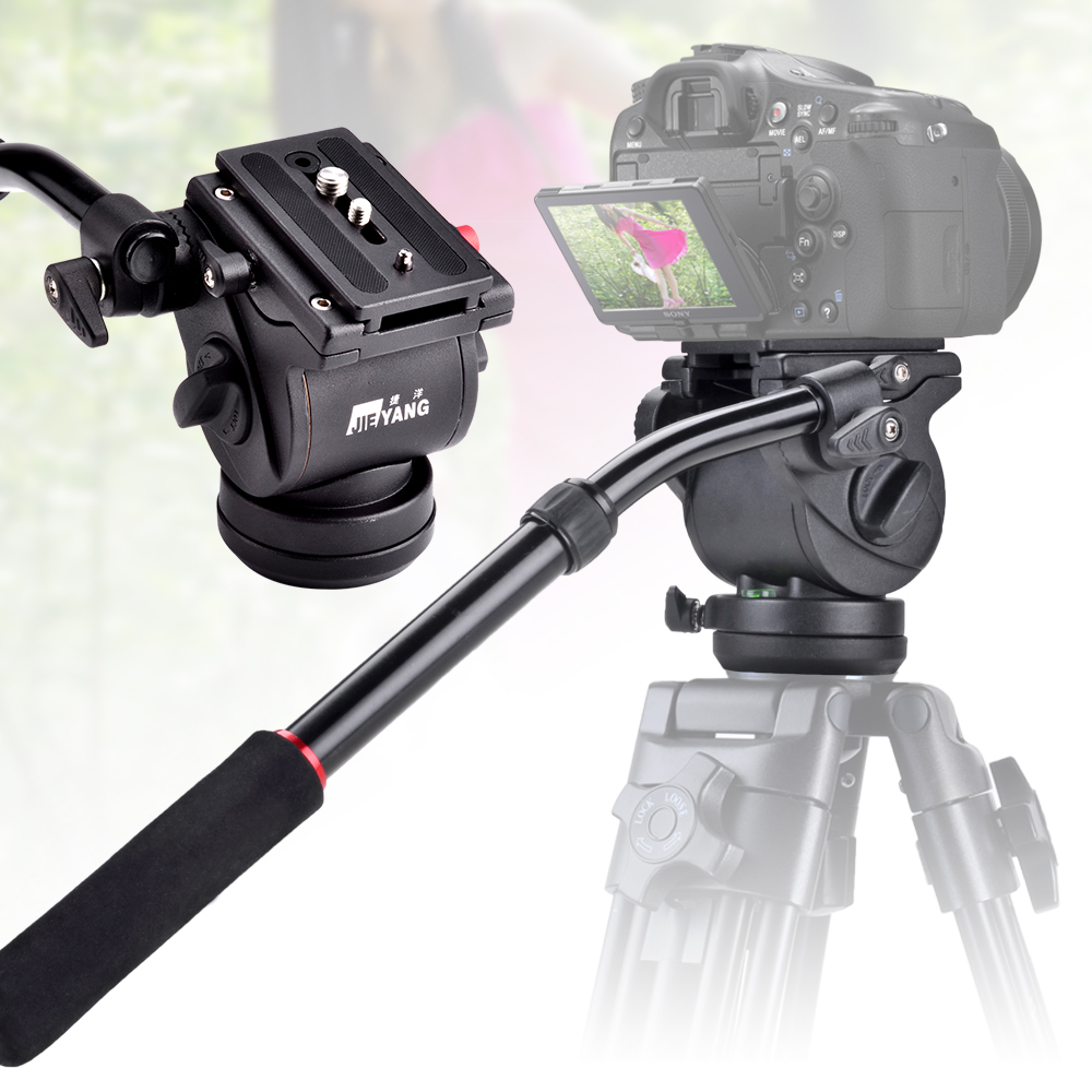JIEYANG JY0506H Load 4KG Video Camera Tripod Action Damping Fluid Head for DSLR Shooting Filming P0014791