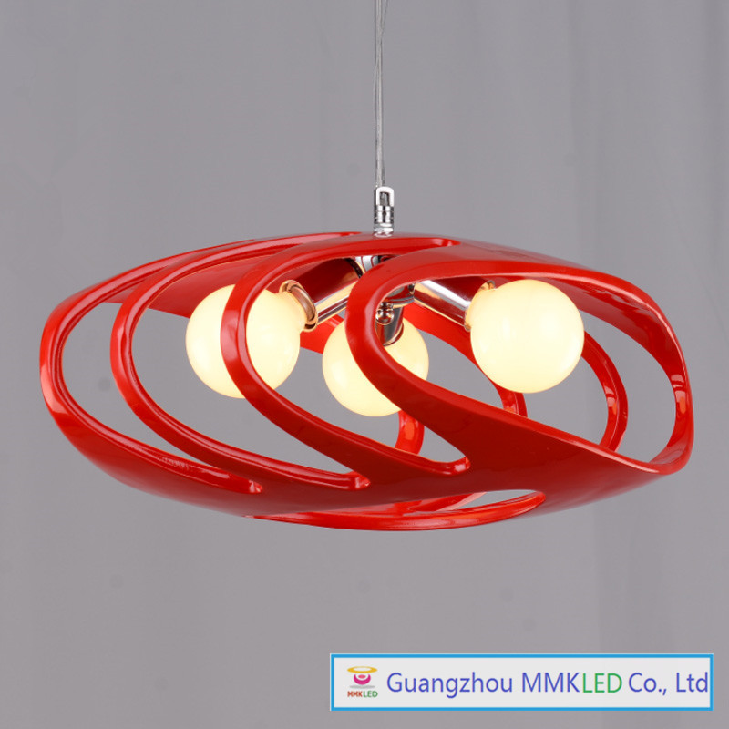 Bedroom modern home decoration Hanging Lamps Bar lights the restaurant chandelier resin Chandeliers red / white AC110-240V modren livingroom bedroom lamp 3 6 8 lamps dome light chandelier lights for home decoration cloth lampshade chandeliers light