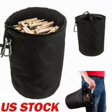 Pendurado clothespin saco de roupas pinos cordão lavanderia resistente armazenamento titular