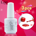 Gelpolish 15ml (1 Base+1 Top+1 Color) 3 Pcs IDO Gel Nail Polish Varnishes Beautiful Professional Nails Beauty Color Uv Gel