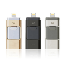 Newest all 3 in 1 OTG USB3.0 Flash Drive 32gb memory Metal Pen Drive high compatible with Apple Android windows devices/computer