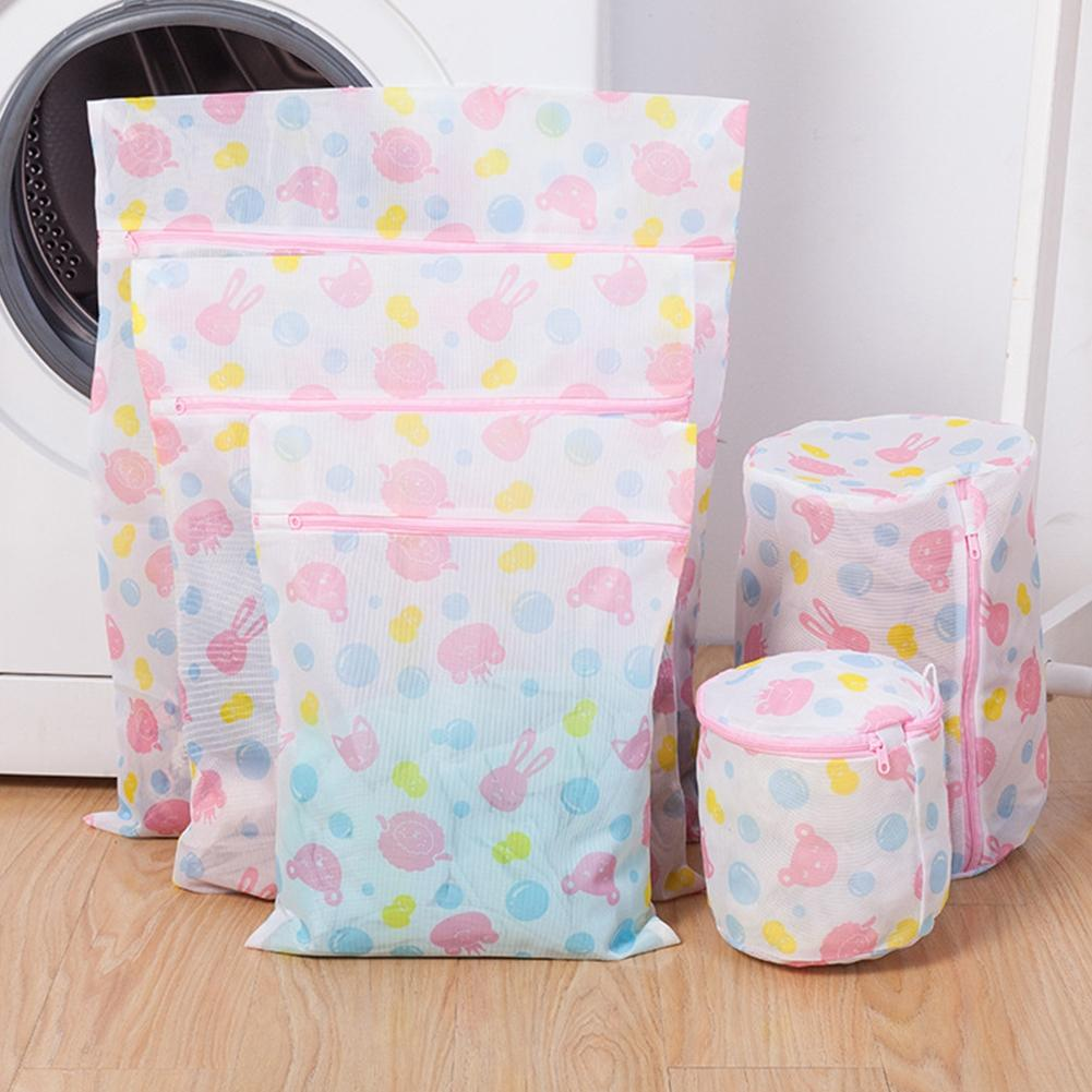 SaiDeng 5PCS Printed Thickened Clothes-Washing Bag for Washing Machine Clothes Protector Laundry Bag-30