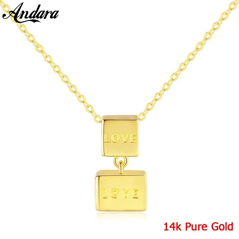 Véritable pur 18 k or bijoux 6 couleurs naturel perle pendentif colliers mode Simple femmes collier