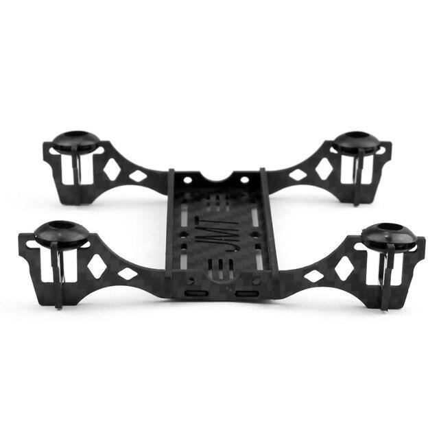 Jmt nieuwe mini 100mm carbon frame kit met motor mount protector voor diy indoor fpv quadcopter vliegtuigen ongemonteerd f19602