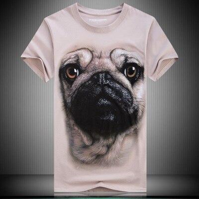 Для мужчин Хлопковые высококачественные копии реалистичным 3D цифровой печати Пёс из мультфильма мужской свободная футболка с короткими ру...