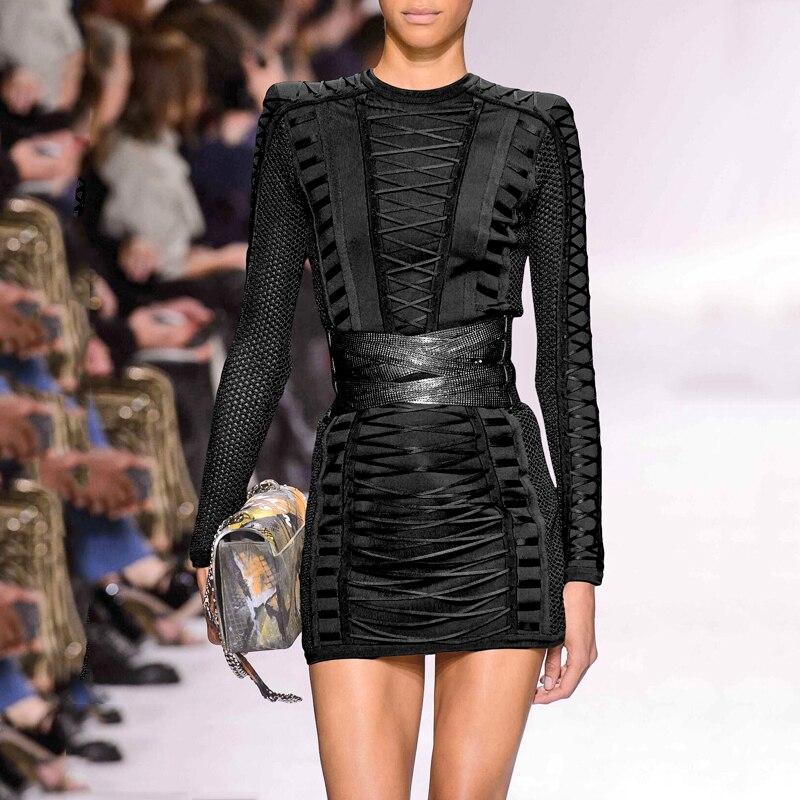 Nouvelle Noir Sexy De army Pour Meqeiss Fourreau Mode À Manches 2019 Lacée Green Femmes Longue O Lacets Club Cou Lady Fête Robe Hw0UHg