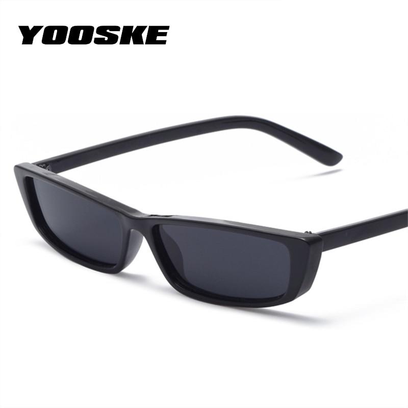 970fb94d2fd27 YOOSKE Pequeno Retângulo Quadrado Óculos De Sol Das Mulheres 2018 Projeto  Do Olho de Gato Do