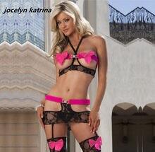 93794cd91 Jocelyn katrina marca 2017 das mulheres Quentes sexy ligam tentação lingerie  pijamas de seda Broto