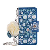 Pearl Tassels Flowers SE 5 Case for iPhone 5S 5 SE case Lanyard Flip wallet card pocket Beautiful roses Cute cover phone bag