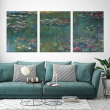 Water Lilies Canvas Painting Famous Painter Monet Oil Replica Wall Art Pictures For Living Room Home Decor No Frame