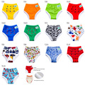 [Ananbaby]1pcs/lot Diapers Baby Children's Underwear Reusable Nappies Pants  Bamboo Inner Panties For Toilet Training Child