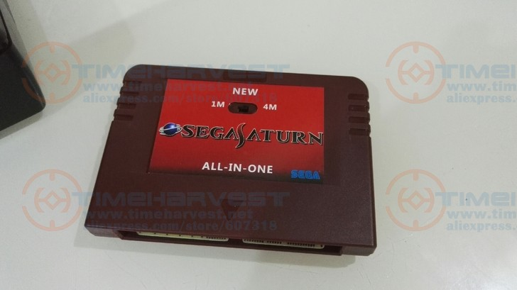 NEW-ALL-IN-1 SEGA SATURN Game Card Pseudo-Saturn KAI SS Direct reading cartridges with Direct reading & Accelerator function image