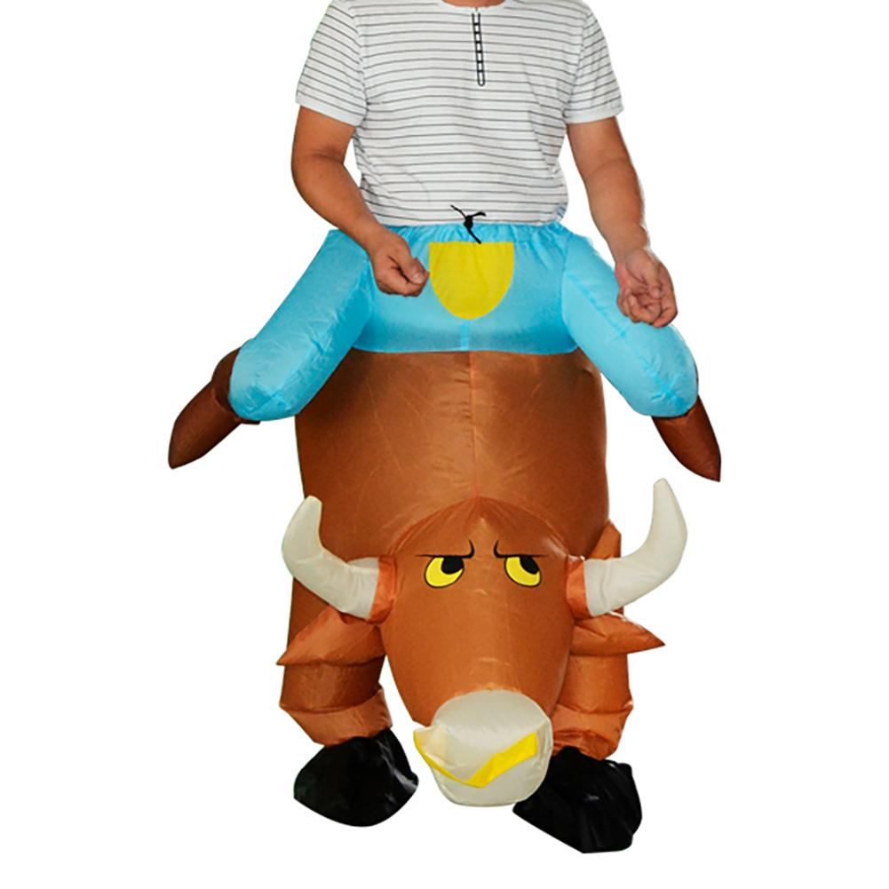 TOPATY Mischievous Cattle Styling Party Inflatable Costume Christmas Halloween Party Supplies