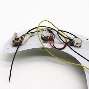 Image 4 - Schwarz Perle P Bass Prewired Geladen Schlagbrett für Precision Bass Gitarre 3 Ply PB Bass Zubehör