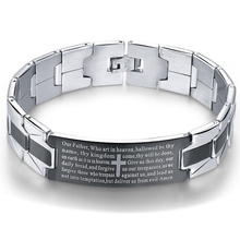 NIBA Men's Bracelets Trendy Jesus Christian Cross Stainless