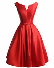 Sexy red prom dress plus größe blackles knielangen haupt recht kurze Partei-cocktailkleider 2017 Vestido De Festa Curto De Luxo