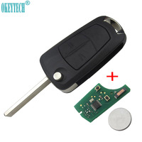 OkeyTech Remote flip Key Fob 2 Button 433Mhz PCF7941 PCF7946 For Vauxhall Opel car key Astra H 2004 2009 D 2007 2012 HU100 Blade