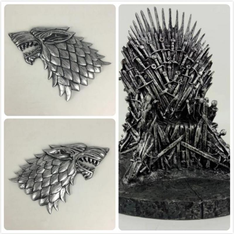 Game Of Thrones The Iron Throne & Ice wolf head A Song Of Ice And Fire Figures Action & Toy Figures One Piece Wall decoration game of thrones hear me roar lannister theme 3d bronze quartz pocket watch a song of ice and fire related product gift page 6