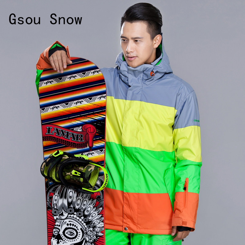 New Men Ski Jacket Gsou Snow Outdoor Sport Wear for Skiing Snowboard Thicken Thermal Clothing Super Warm Male Coat 2017 Jacket dropshipping skiing jacket pant suits for man warm men s ski clothing waterproof men snowboard coat snow jacket for male