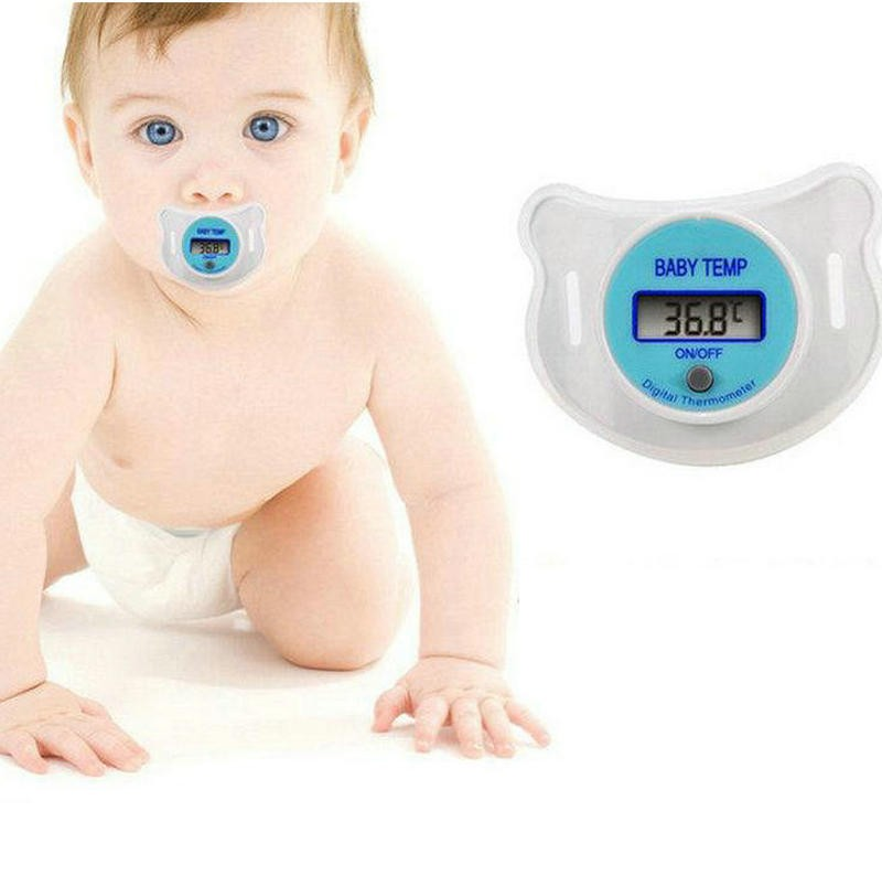 New Practical Health Monitors Baby Infants Nipple Pacifier Thermometer Temperature Celsius LCD Digital Mouth Nipple