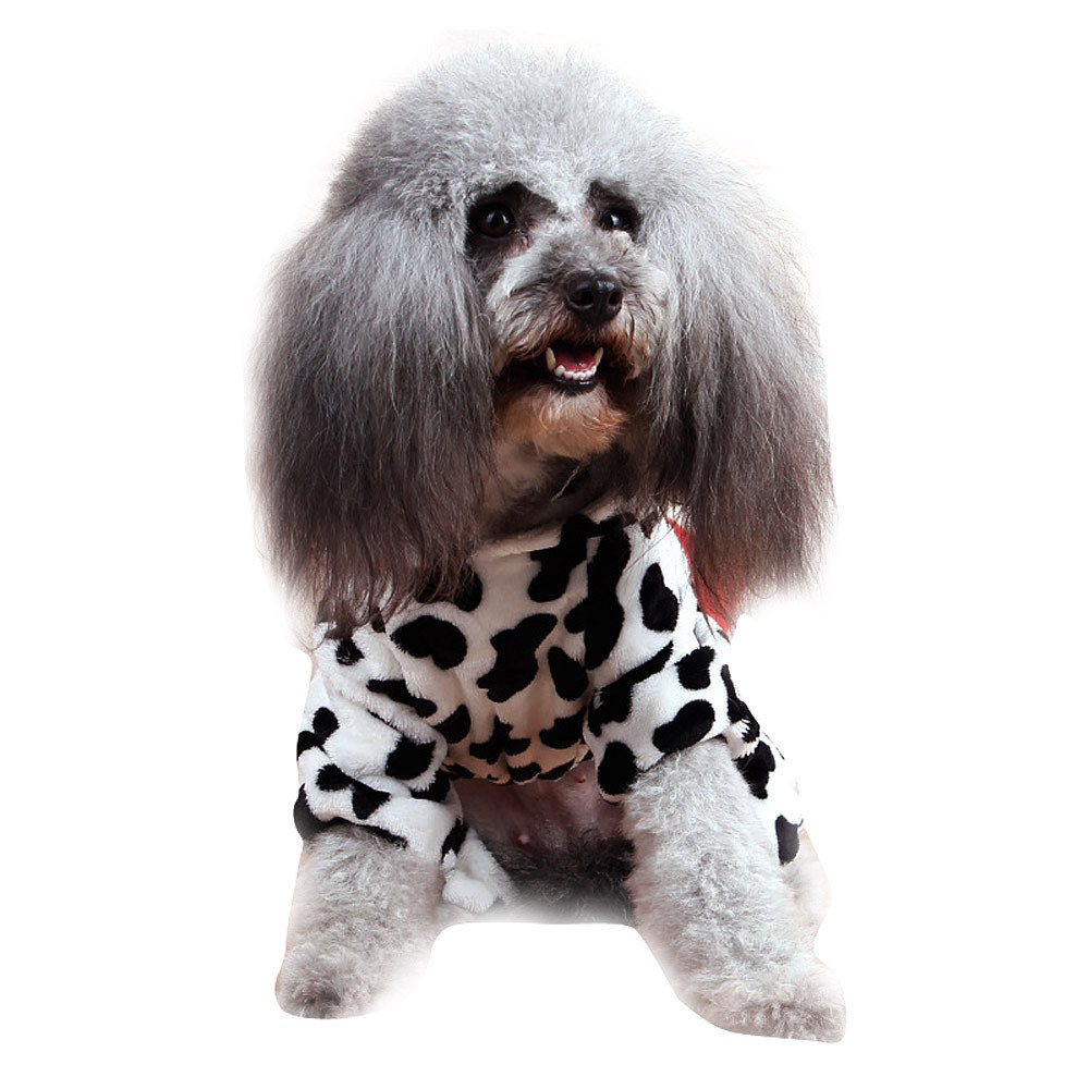 high quality Cute Pet Dog Cat Clothes Funny Puppy Dairy Cow Costume Hoodie Dressing 2017 new designed fashional stylish costume