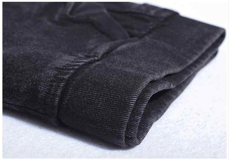Tamanho grande metros lmitation calças de brim das mulheres 2020 primavera outono elástico calças de cintura senhoras do vintage lápis magro jeans