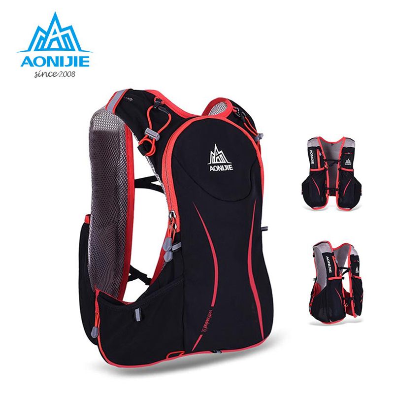 AONIJIE 5L Outdoor Running Bag Marathon Hydration Backpack Lightweight Hiking Vest Bag стоимость