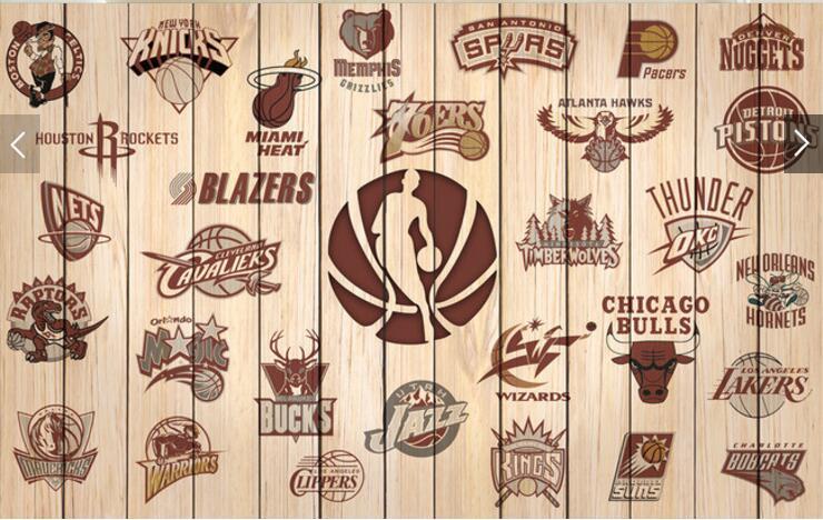 Personnalisé De Basket Ball Papier Peint, Équipe Logo Équipe Logo